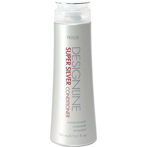 Super Silver Conditioner, 10.1 oz - Regis DESIGNLINE - Restores Moisture to Boost Color Brilliance for Blonde, Grey, White Hair and Strengthens, Detangles, Improves Elasticity to Prevent Color Fade