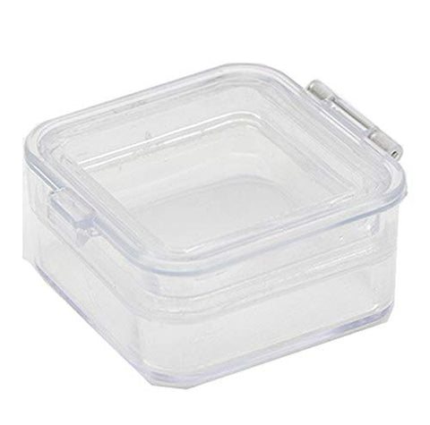 TJIRIS 2 Inch Clear Dental Crown Box Dental Membrane Box Retainer Case Denture Box 200 Pieces