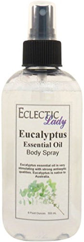 Eucalyptus Essential Oil Body Spray, 8 ounces
