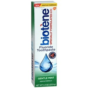 Biotene Fluoride Toothpaste Antibacterial Gentle Mint, 4.3 Ounces each Pack of 6