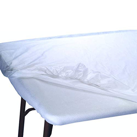 Appearus Disposable Water Resistant Fitted Massage Table Sheet Bed Covers 76x36x6 (100 Count)