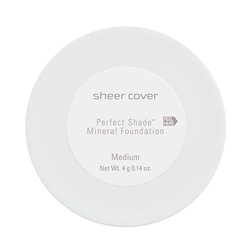 Sheer Cover Perfect Shade Mineral Foundation, Medium Shade, Patented Pigments, Trueshade Technology