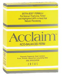 Zotos Acclaim Acid Balanced Hair Perm- Extra Body
