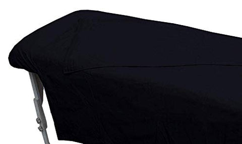 SPA Massage Table Flannel Sheets 3 Pieces Set 100% Cotton (Black)