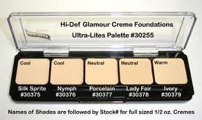 Graftobian Hd Glamour Creme Palette, Ultra Lights