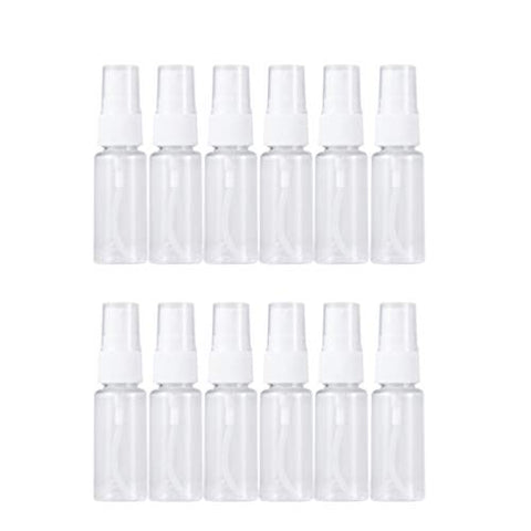 Healifty Mini Clear Spray Bottles Empty Spray Bottles Plastic Portable Makeup Spray Containers 12pcs(60ml)