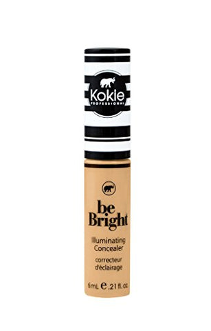 Kokie Cosmetics Be Bright - Concealor and Color Correctors, Medium Beige, 0.21 Fluid Ounce