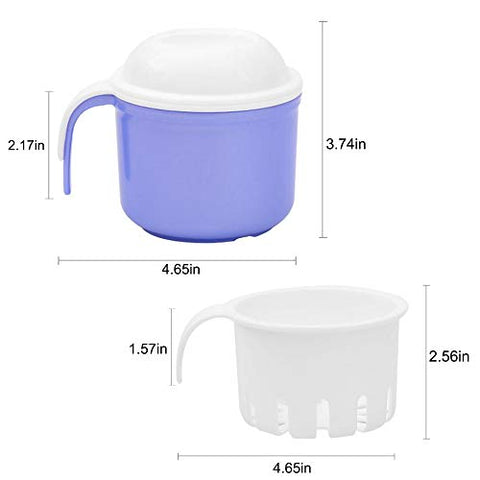 Denture Bath Case Cup Box with Removable Strainer, Portable Travel Denture Holder Case for Cleaning Gift for Mom and Dad