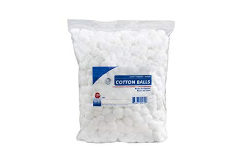 Cotton Balls. Case of 2000 Large Cotton Balls for Wound Care. Soft and Absorbent, 100% Cotton. Non-sterile Cotton. Soft, White, Single use, Latex-Free.