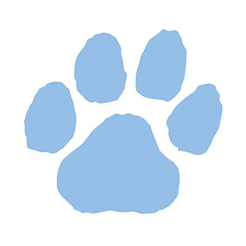 Light Blue Paw Print Temporary Tattoos I Pack of 100 I Made in USA