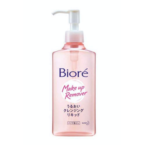 #MG BIORE Mild Cleansing Liquid 230ml -The water-based solution gently dissolves and removes all makeup including waterproof mascara and foundation