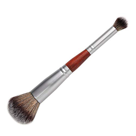 Double Head 1Pcs Face Brush For Foundation Highlighter Bronze Eyeshadow Blush Power Facial Beauty Cosmetic Tools,02