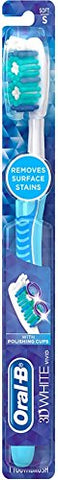 Oral-B 3D White Advantage Soft Vivid Toothbrush 1 ea (Pack of 4)