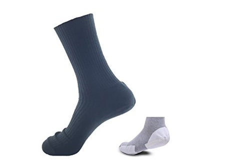 Non-Gel Moisturizing Padded Socks by Danning, Improve Dry Cracked Heels in 7 Days, 0.2 mm Layer with Nourishing Formula & Herbal Recipe,No Cream Required (Men (Whole Bottom), Black 3 Pairs)