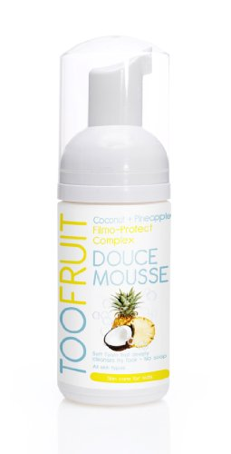 Too Fruit Organic Skincare for Teen Foam Face Cleanser, Pineapple and Coconut, 3.38 Fluid Ounce