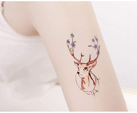 Kekemm Temporary Tattoos Tattoo Stickers Female Waterproof Cute Simulation Sexy Tattoo Pattern Stickers 60 Sheets