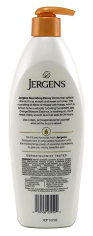 Jergens Nourishing Honey 16.8 Ounce Dry Skin Moisturizer (496ml) (6 Pack)