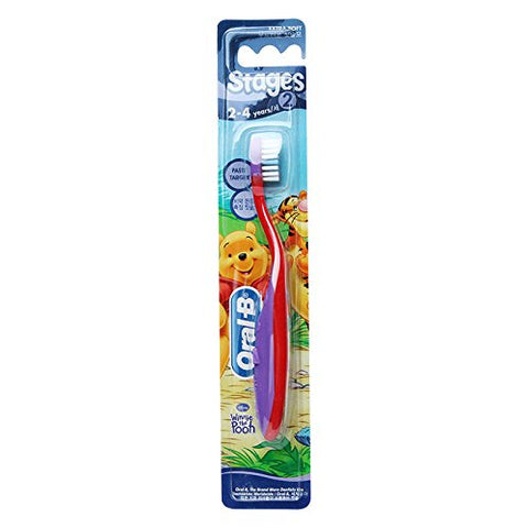 Oral B Stages 2 Toothbrush 2 4 Years 1 Pack/Genuine And Original Packing