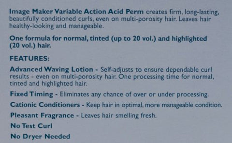 Image Maker Variable Action Acid Perm - One Application (5 Pack)