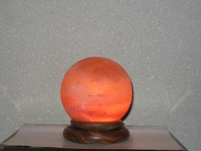 Black Tai Sphere Salt Lamp 4