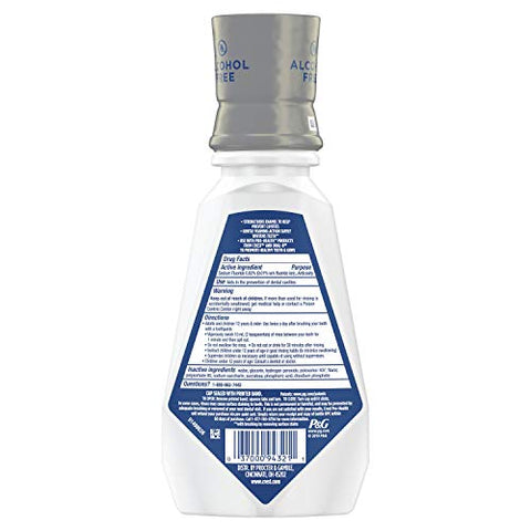 Crest ProHealth Advanced Mouthwash With Extra Whitening Energizing Mint Flavor 16 fl oz. Pack of 4