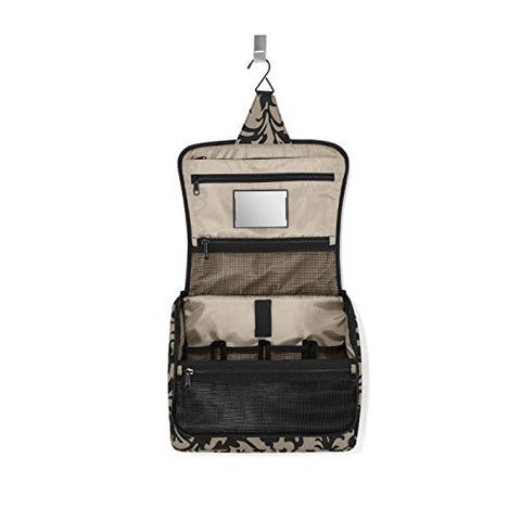 reisenthel Toiletbag XL, Hanging Travel Toiletry Organizer, Baroque Taupe
