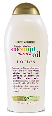 Ogx Body Lotion Coconut Oil Miracle 19.5 Ounce (577ml) (2 Pack)
