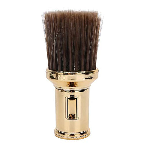 Multifunctional Broken Hair Sweep Brush Neck Duster Brush Beard Shaving Brush for Barber Shop Professional Haircut Tools (Gold)