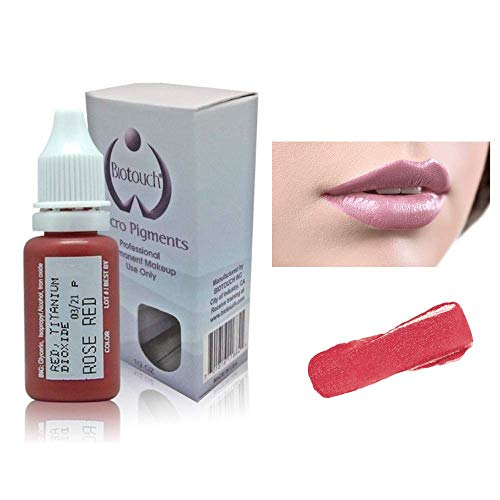Biotouch Micropigment Rose Red Pigment Color Permanent Makeup Microblading Supplies Eyebrow Shading