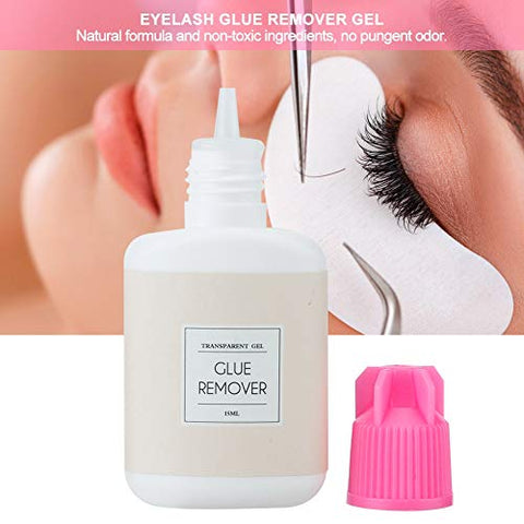 15ml Eyelash Glue Remover Gel, Professional False Eyelash Extension Cleanser, Eye Lashes Makeup Remover Glue Cleaning Liquid
