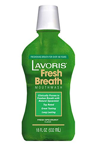 Lavoris Mouthwash Natural Mint Flavor, 18 fl. oz.