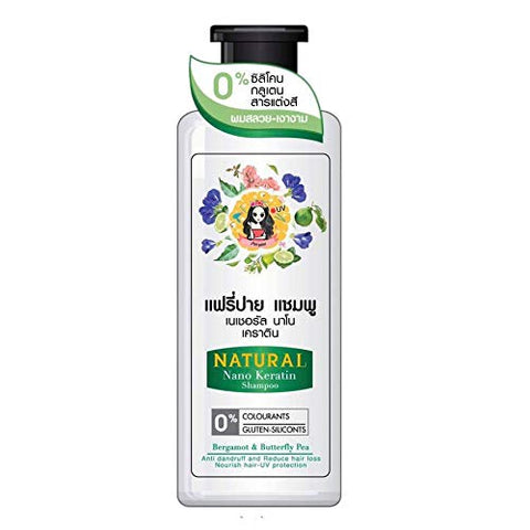 Fairy Pai Natural Nano Keratin Shampoo 250ml. Accelerates Long Hair Reduces Hair Loss Gray Hair