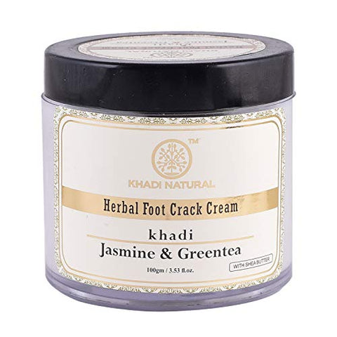 Khadi Natural Herbal Jasmine and Green Tea Herbal Foot Crack Cream (100 g)
