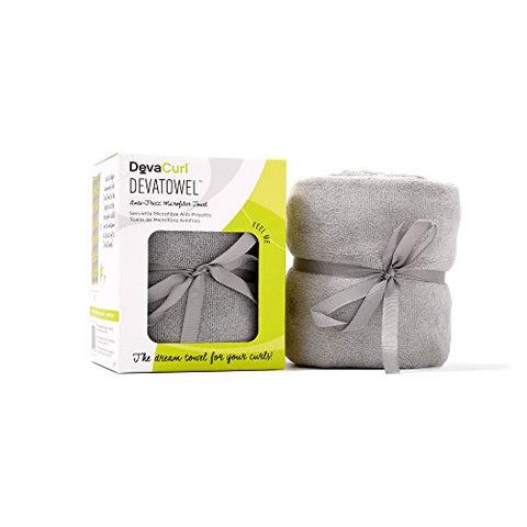 DevaCurl Microfiber Anti-Frizz Towel, Gray (2 Pack)