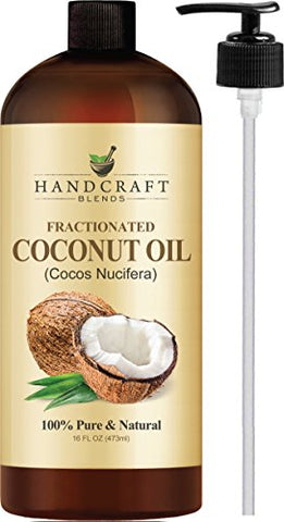 Fractionated Coconut Oil â?? 100% Pure & Natural Premium Therapeutic Grade   Coconut Carrier Oil For