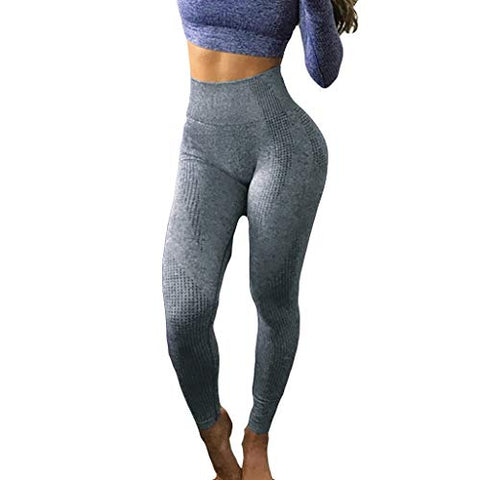 haoricu Women's High Waist Workout Compression Seamless Fitness Yoga Leggings Butt Lift Active Tights Stretch Pants Navy
