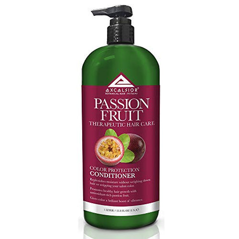 Excelsior Therapeutic Hair Care Passion Fruit Color Protection Conditioner 33.8 oz. (Pack of 3)