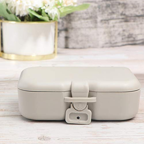 HEALLILY 1pc Denture Case Denture Storage Container Denture Box Denture Cleaning Case False Teeth Container with Inner Mirror