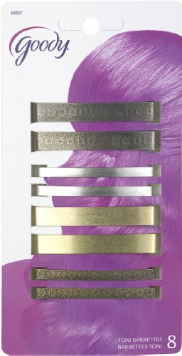 Goody Classics Metal Hair Barettes, 2 3/8 Inches, 8 Count (Pack of 2)