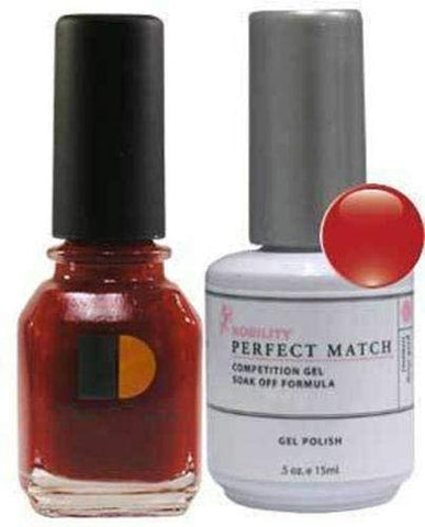 LeChat Perfect Match DUAL SET Soak Off Gel Polish & Dare to Wear Nail Lacquer - Cherry Cosmo - PMS01
