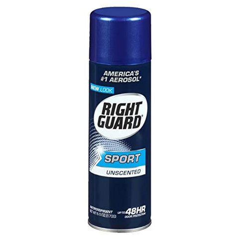 Right Guard Sport Unscented Aerosol Antiperspirant Spray 6 oz (Pack of 7)