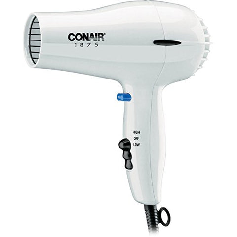 Conair 247W White Compact Hair Dryer - 1875W