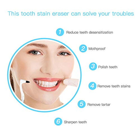 4 Pack Tooth Stain Remover for Fighting Tartar Teeth Stains Teeth Polishing,White