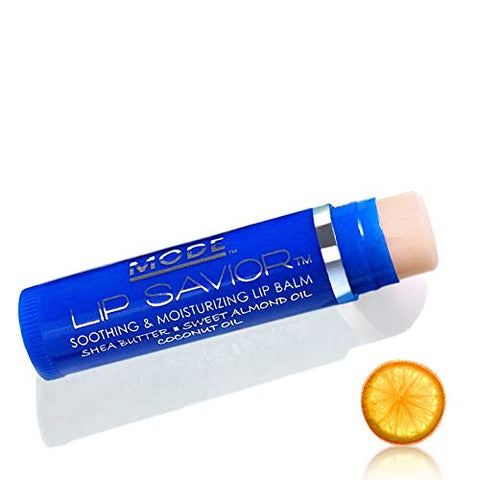 Mandarin Orange Lip Balm, Mode Lip Savior, Flavored, Vegan, Cruelty Free, Soothing, Moisturizing, Conditioning, Natural Skincare Sweet Almond, Organic Shea Butter, Coconut Oil, Made in Beautiful USA
