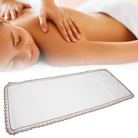 Professional Massage Table Cover Sheet, Premium Coral Velvet Massage Bed Coverlet with Hole for Beauty Salon SPA TCM Physiotherapy Shop(White)