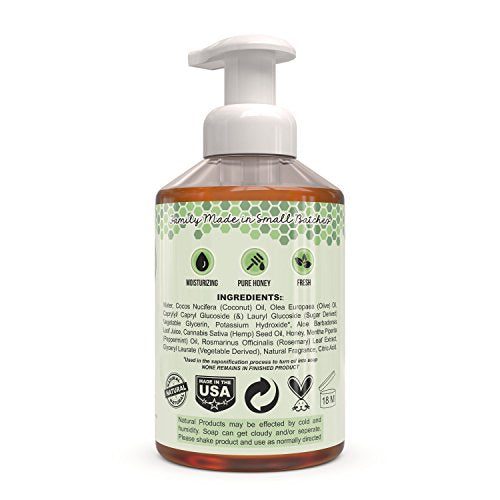 Beessential Refreshing Foaming Hand Soap 2 Pack, Peppermint, 32 Ounce