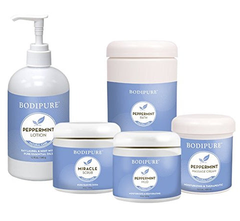 Bodipure Peppermint Daily Moisturizing Body & Hand Lotion For Normal To Dry Skin, Rich Emollients To