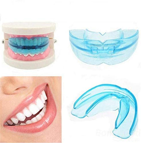 Oral Shield for Grinding and Gripping Anti-Wear Teeth, Free-Formifying Teeth Night Care, 3-in-1 Multi-Purpose Tooth Whitening Tray Mask, Upper and Lower Teeth, 5 Pack