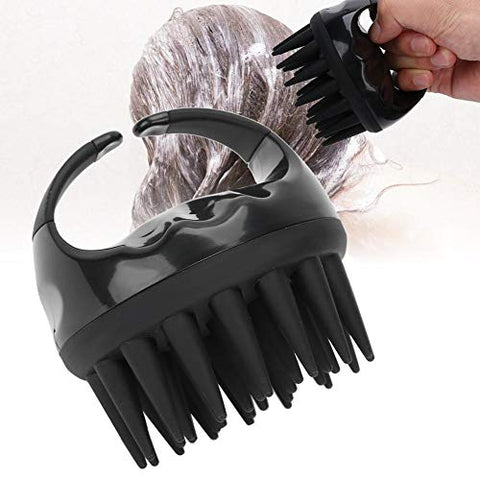 Shampoo Brush,Massage Comb,Handheld Hair Shampoo Brush,Portable Head Cleaning Washing Scalp Massage Comb (Black)