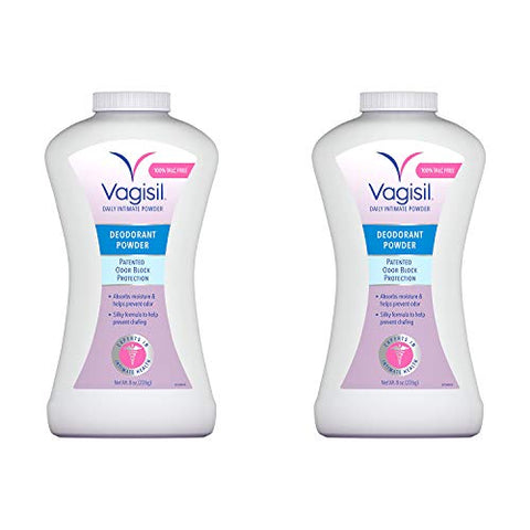 Vagisil Odor Block Deodorant Powder, Talc-Free, 8 Ounce - 2 Pack